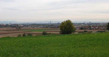 Colline vue sur Strasbourg