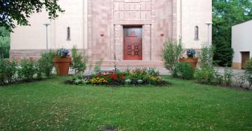 Entrée église catholique